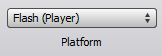 Flash Player Option Button