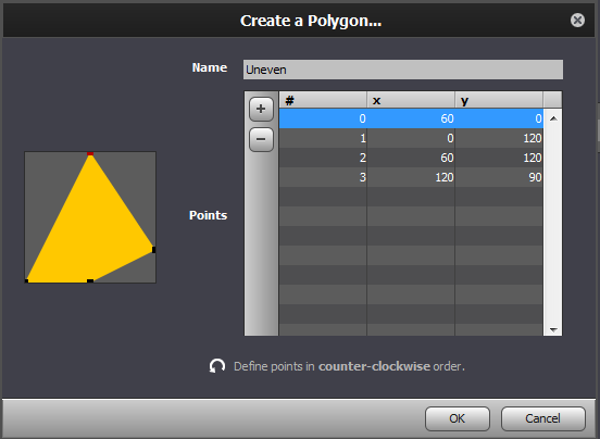 Creating a polygonal collision shape