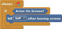 Leaving Screen